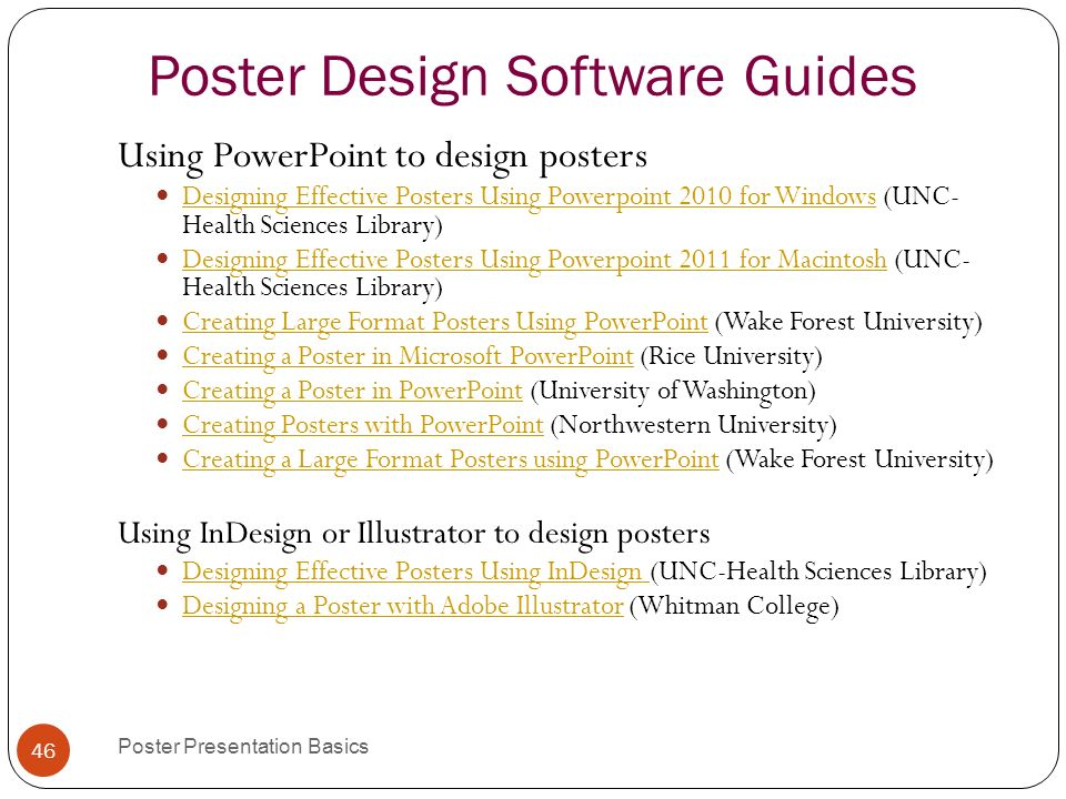 basics poster presentations 1 poster presentation basics. - ppt, Presentation templates