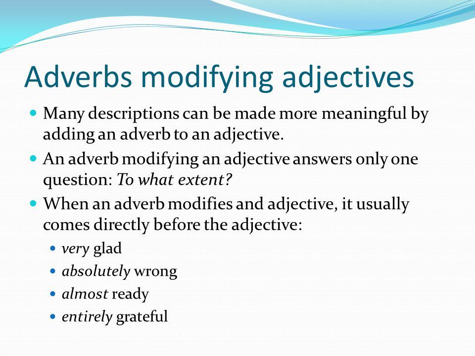 Grammar Lesson 3 Adjectives Is A Word To Describe A Noun Or