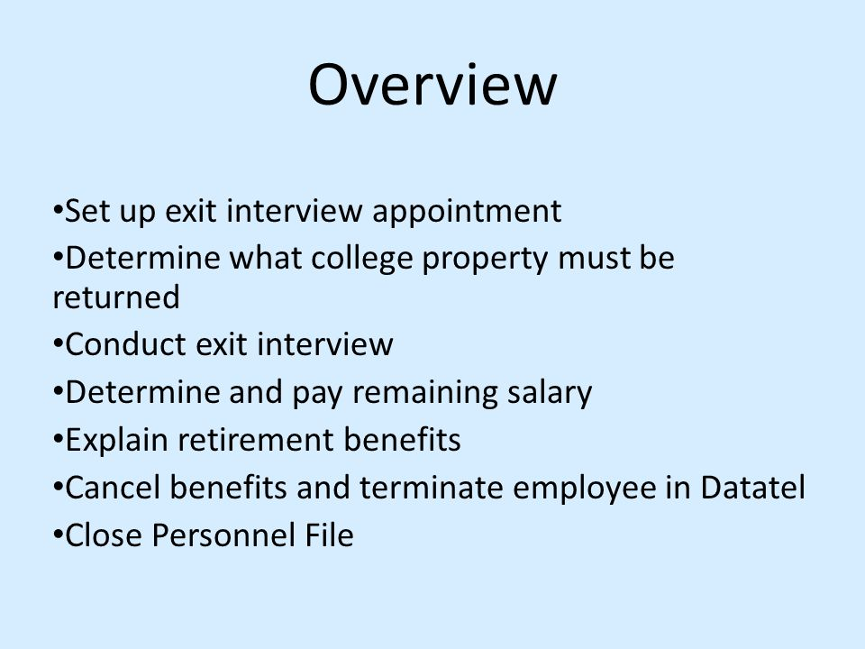 exit interviews and dismissals essay 31 explain the differences between fair and unfair dismissals for a fair 32 explain the importance of exit interviews supporting good practice in managing.