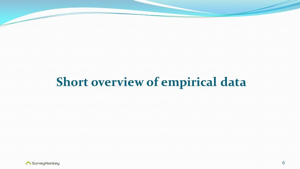 Short overview of empirical data 6