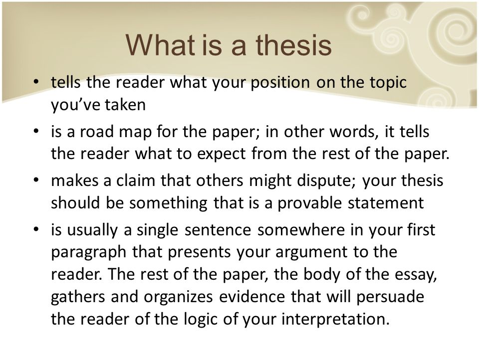 thesis statement how long should it be This resource provides tips for creating a thesis statement and examples of different types of thesis your thesis statement should be specific—it should.
