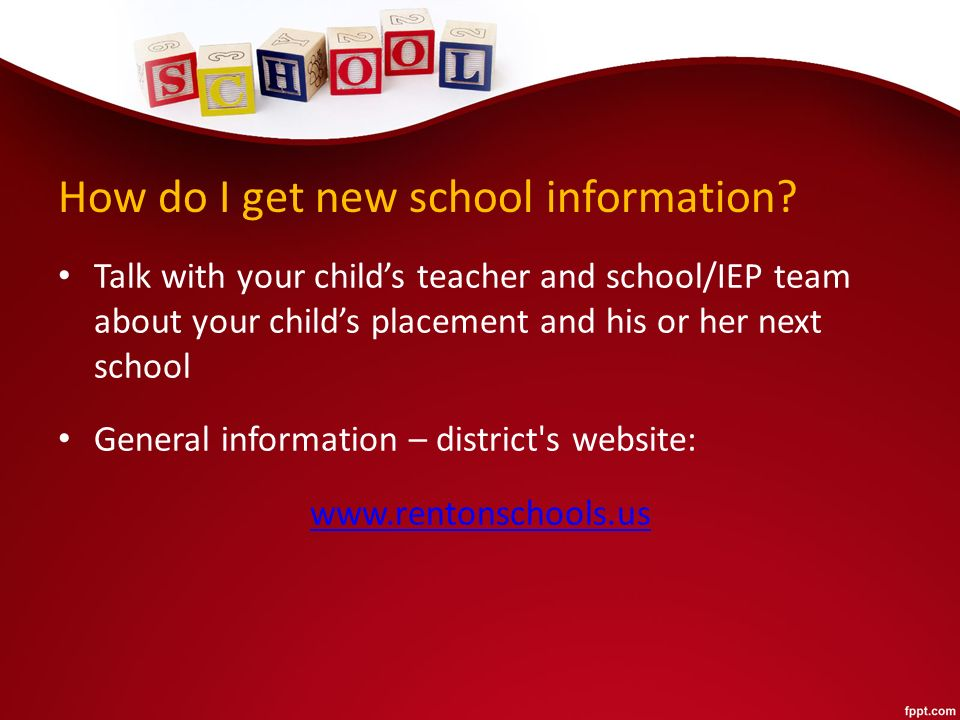How do I get new school information.