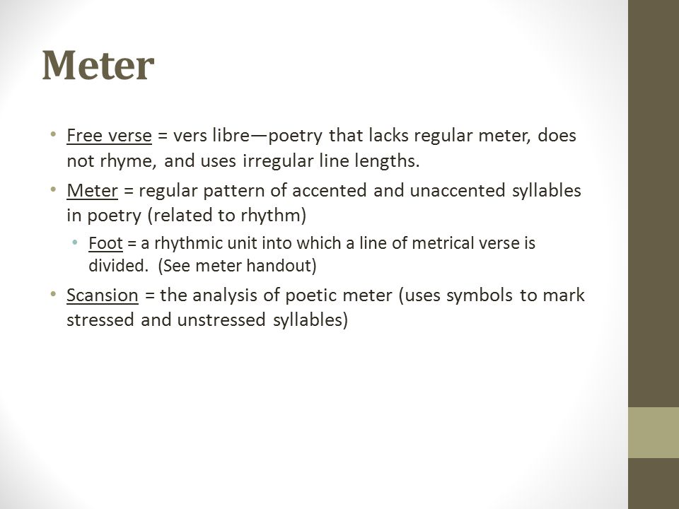 Poetic Terms. Metaphor Allusion = an indirect reference to a ...