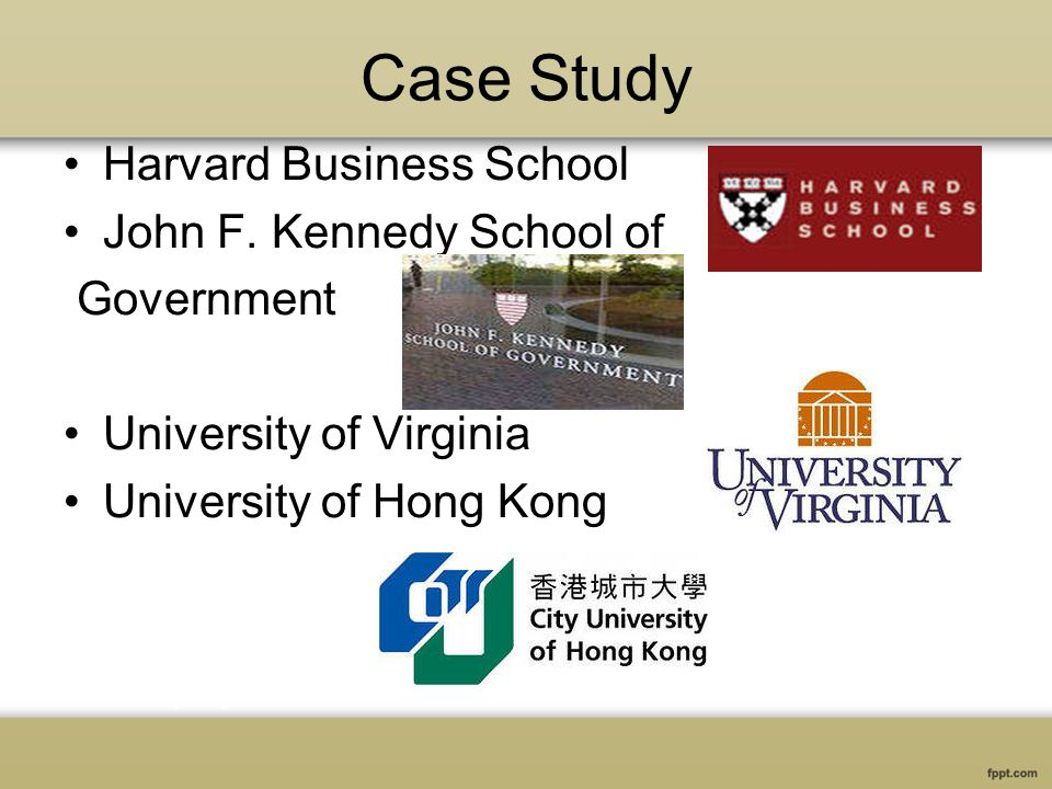 Case Study Harvard Business School John F.