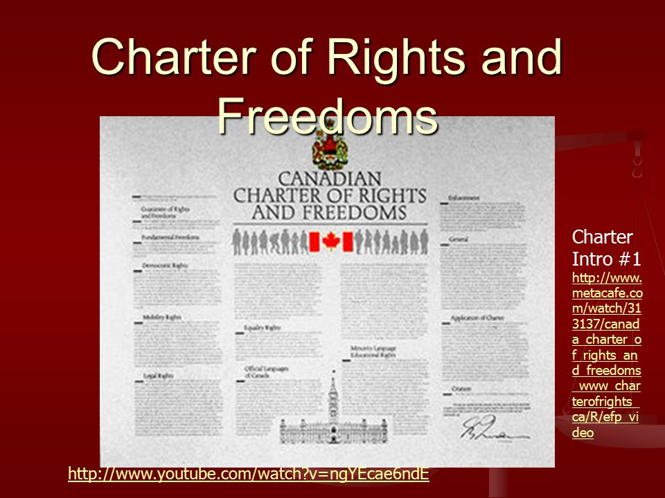 the charter of rights and the good reputation of canada Canadian citizen and permanent resident has individual rights under the charter of rights and freedoms  to what extent has canada affirmed collective rights.