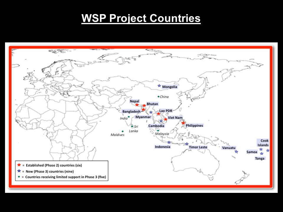 WSP Project Countries