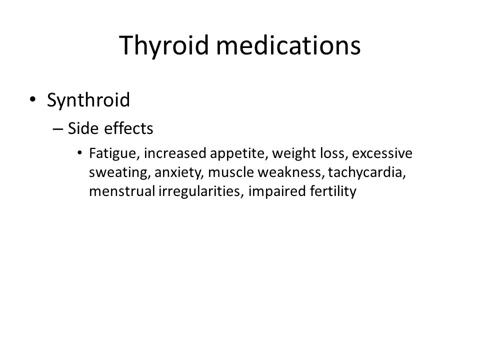 Synthroid Thyroid Medication