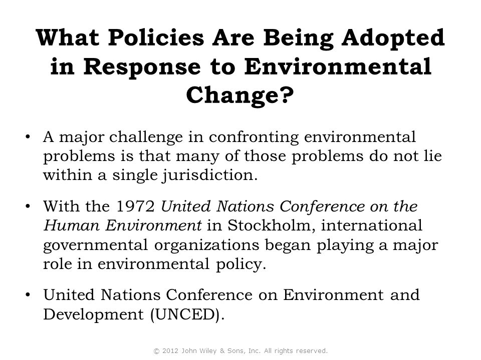 A major challenge in confronting environmental problems is that many of those problems do not lie within a single jurisdiction.