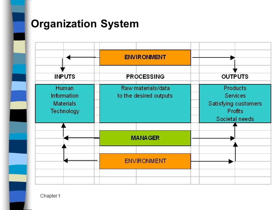 Chapter 1 Organization System
