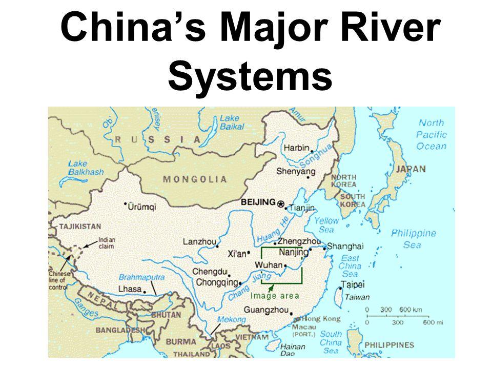 Japan Mongolia South Korea North Korea China Taiwan East Asia - Major river systems of the world
