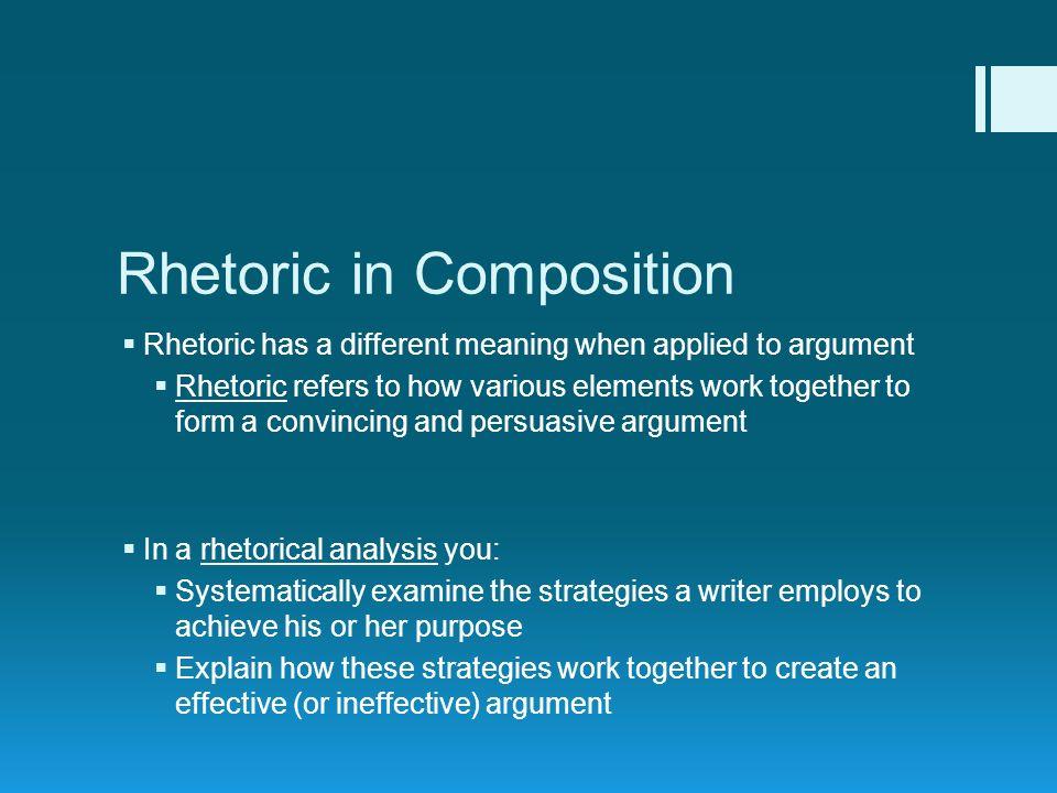 rhetoric essay writing