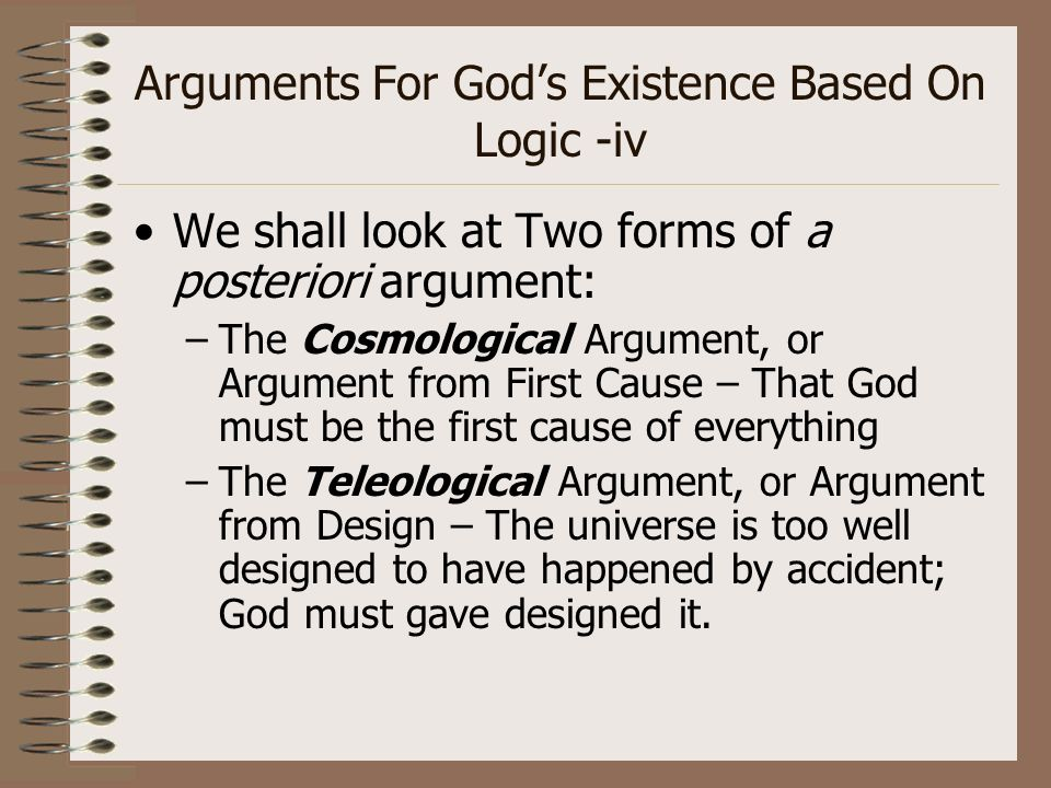 what are key differences between the ontological teleological and cosmological arguments