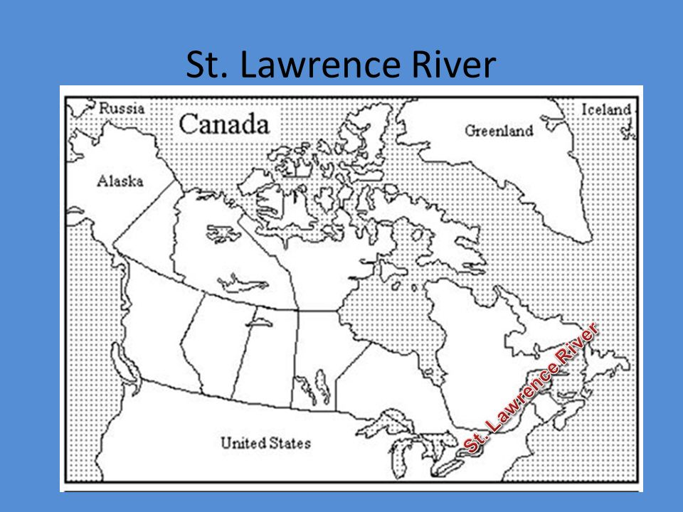 EQ Where Are The Major Physical Features Of Canada Located What - Us map with st lawrence river