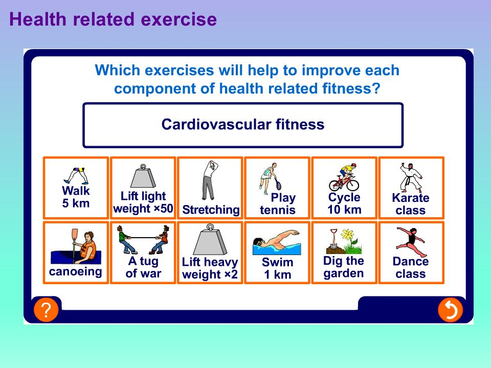 Health related exercise