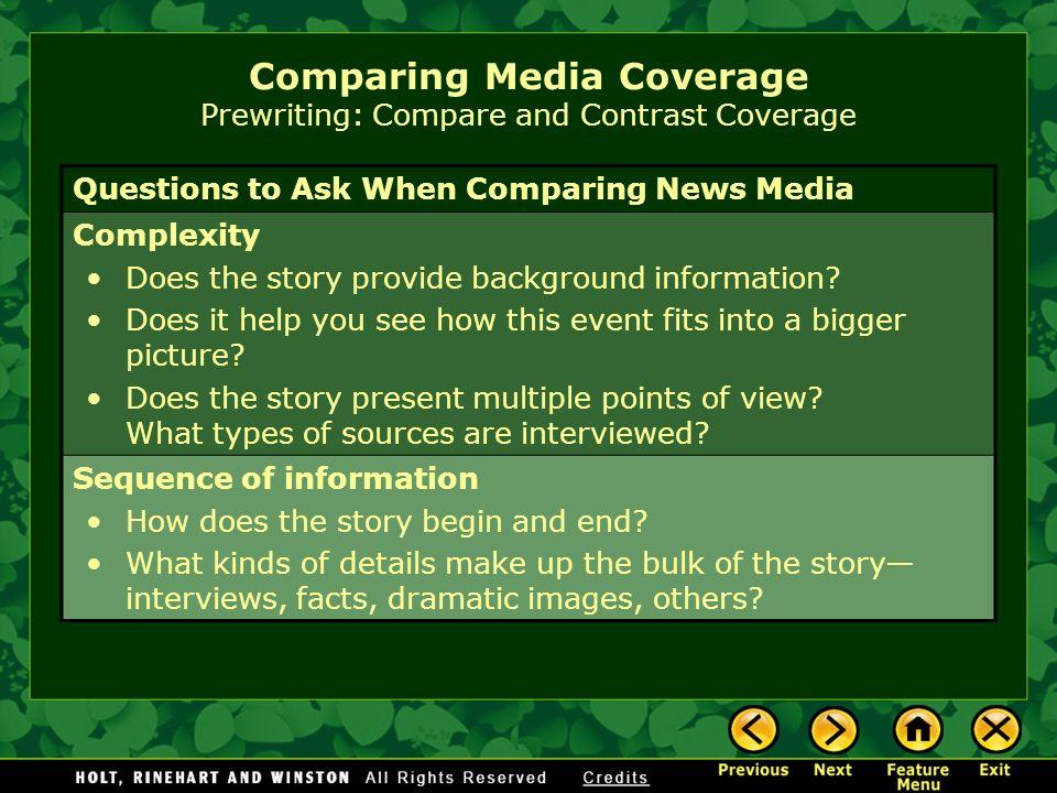 media comparison essay