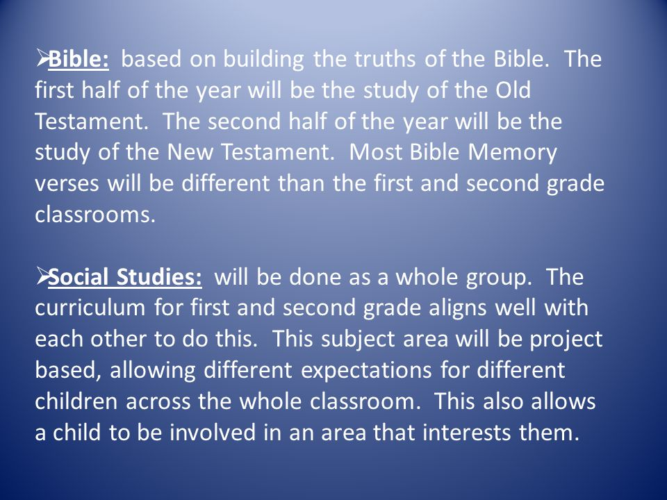  Bible: based on building the truths of the Bible.
