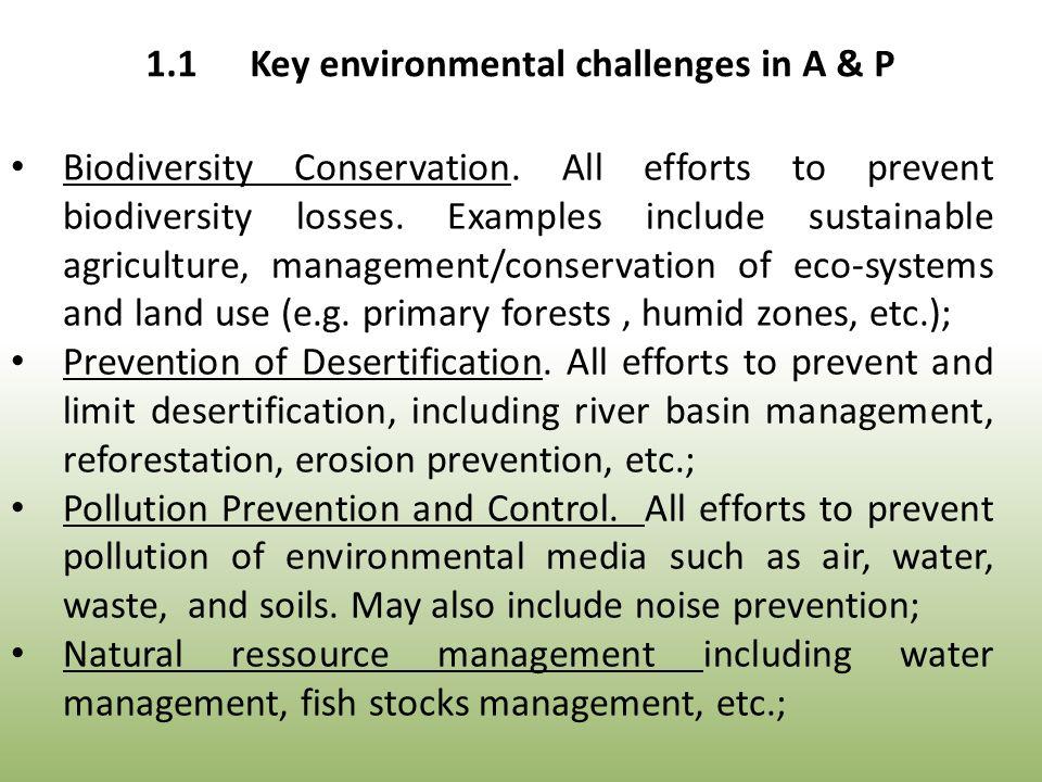 Biodiversity Conservation. All efforts to prevent biodiversity losses.