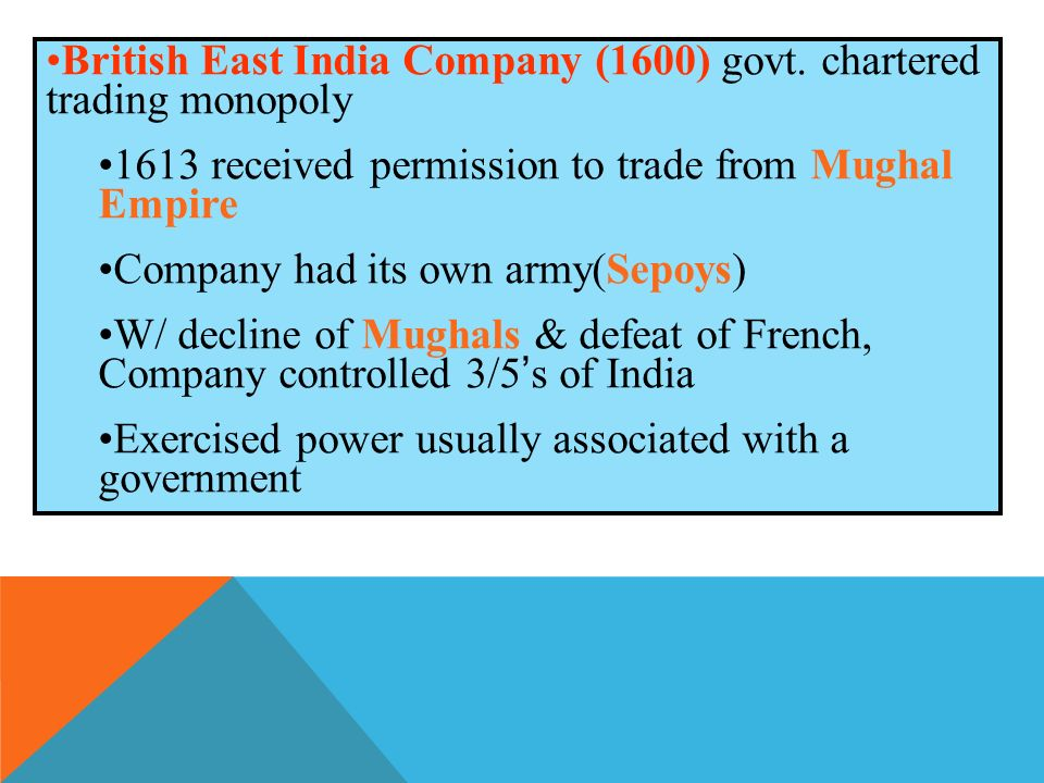 British East India Company (1600) govt.