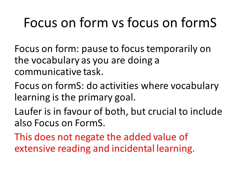 Incidental versus intentional vocabulary learning A selection of ...
