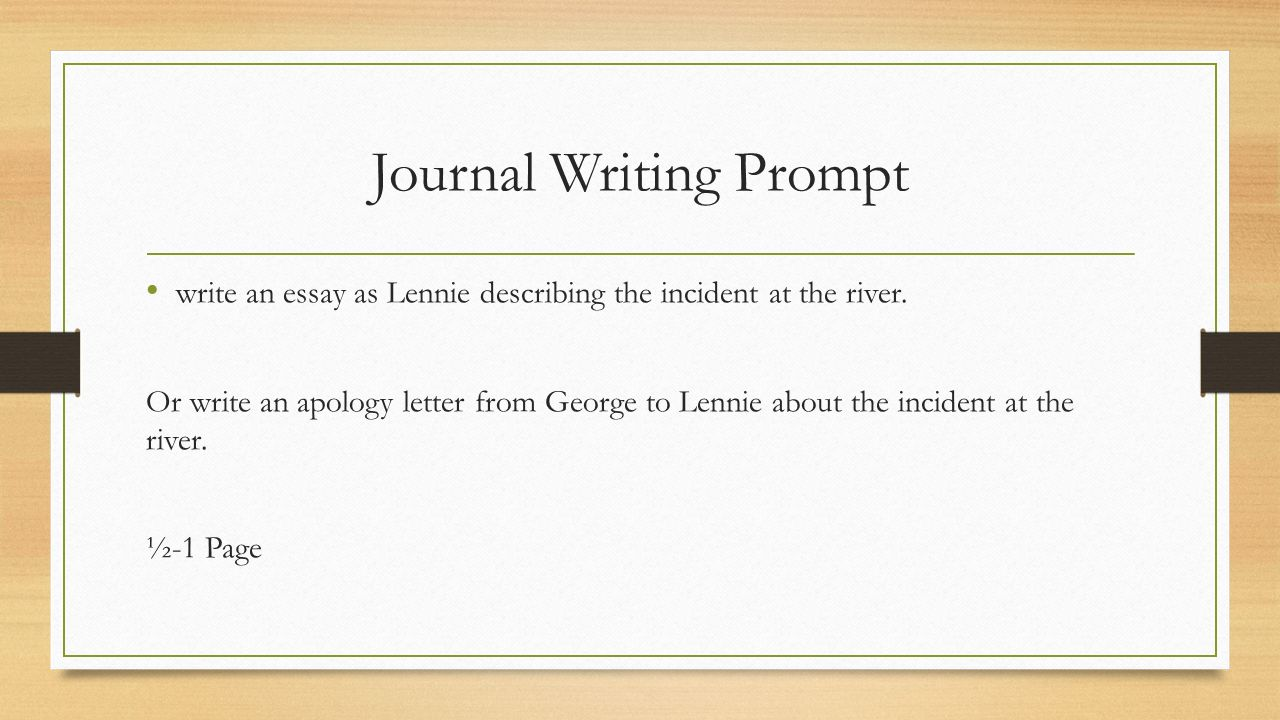 journal writing examples