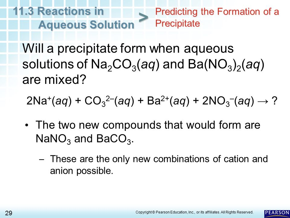 11.3 Reactions in Aqueous Solution 1 > Chapter 11 Chemical ...