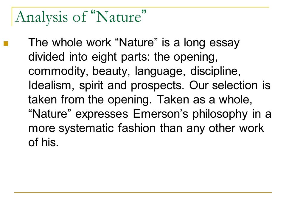 essay writing about nature