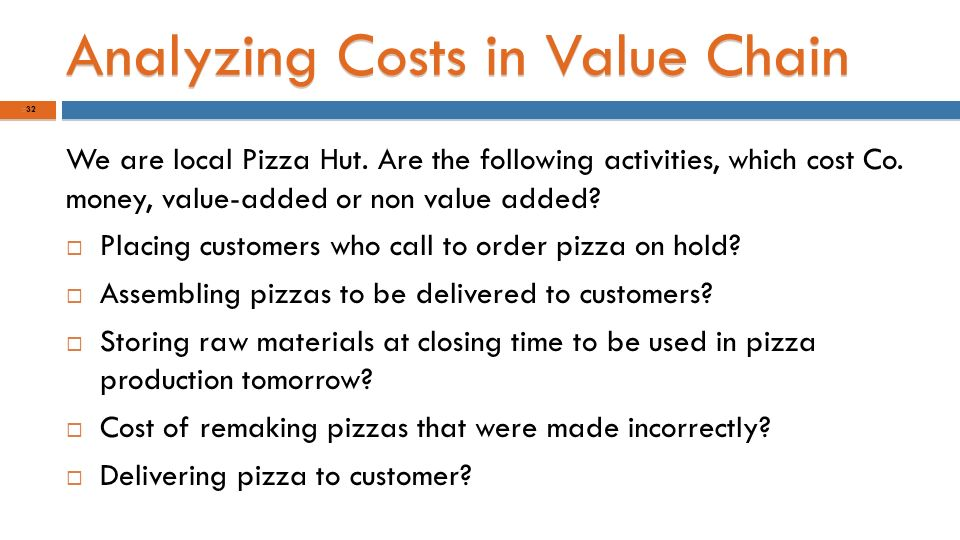 pizza activities activity based costing lean production and the costs of quality