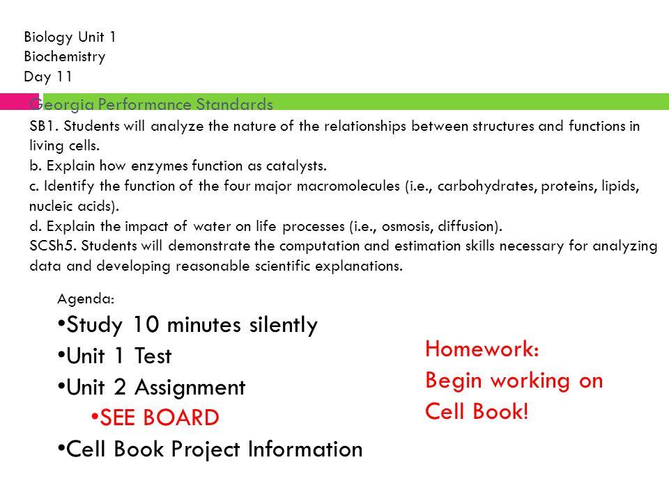 biology homework 1