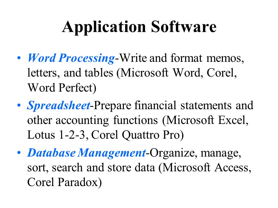uses and application of word processing