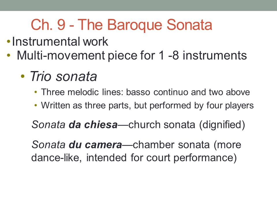 PART III THE BAROQUE PERIOD —invention of opera 1750—death of Bach ...