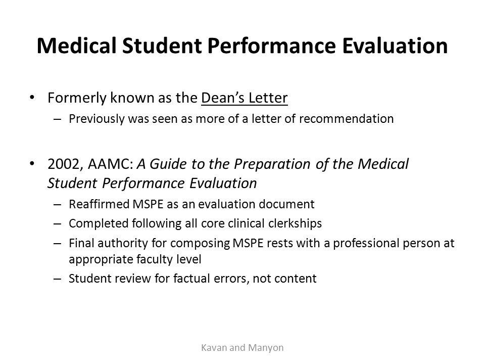 evaluation letter