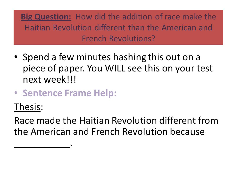 overview essay haitian revolution File: ppt notes: haitian revolution timeline mexican revolution essay peer editing overview meet the master teachers.