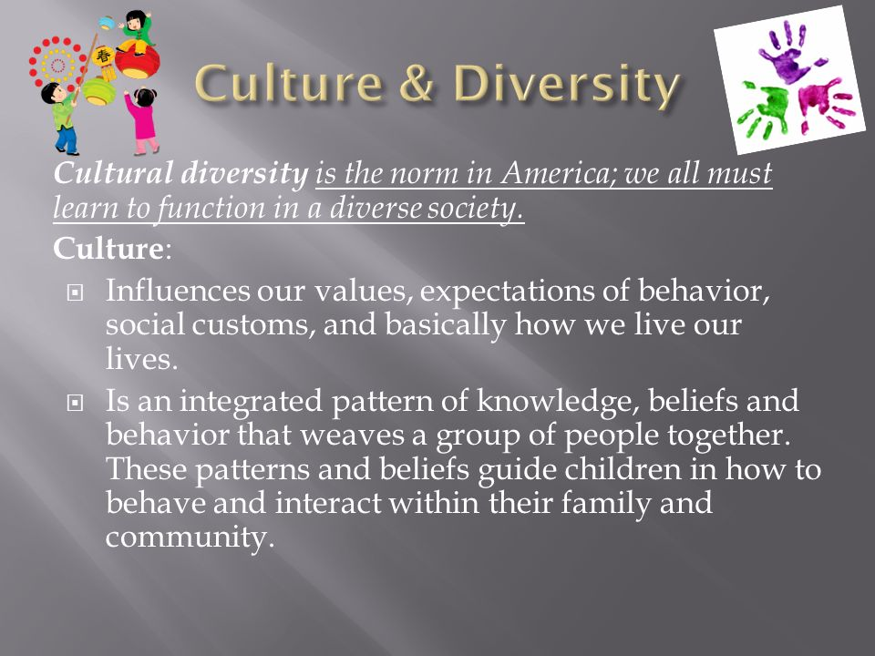 a history of cultural diversity in america The idea of pluralism in the united states cultural diversity that was a consequence of the processes of industrialization  redefined american culture.