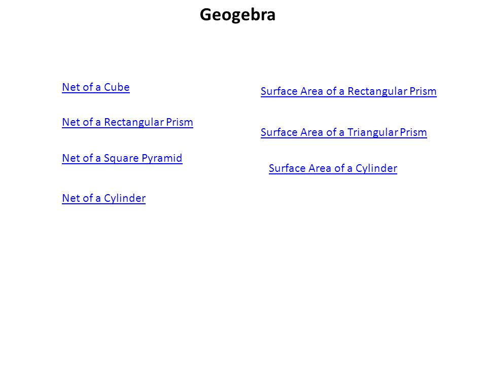72 Surface Areas of Prisms and Cylinders Geogebra Net of a – Surface Area of Prisms and Cylinders Worksheet