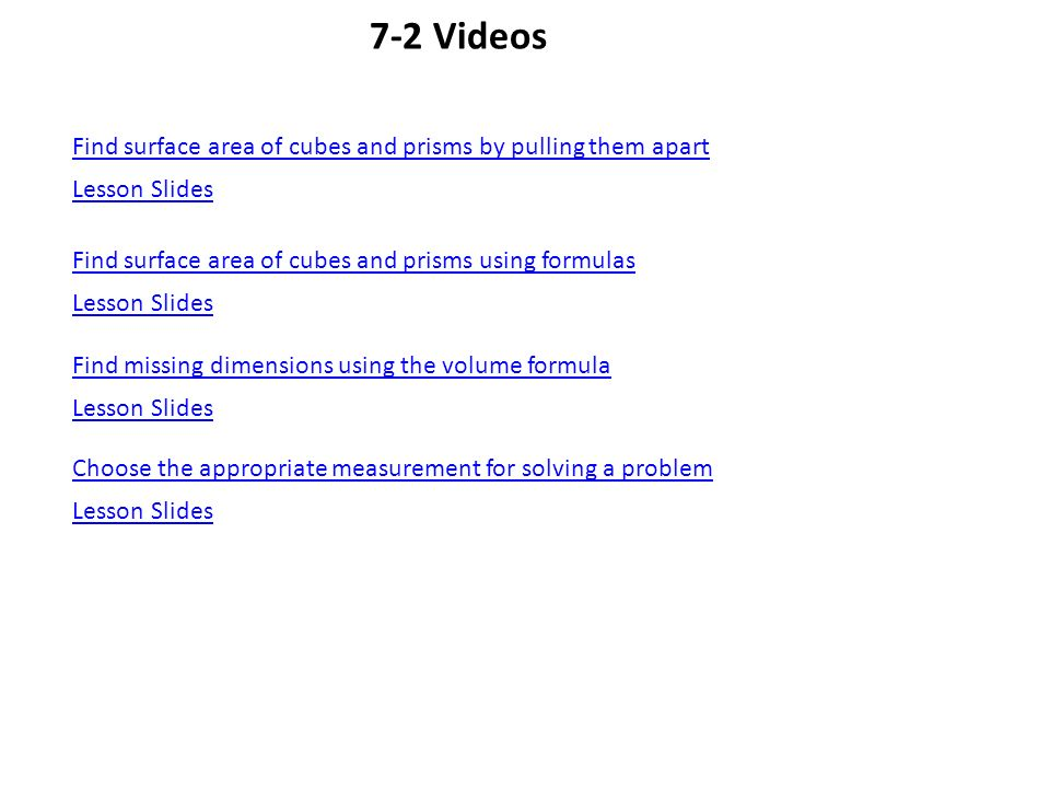 72 Surface Areas of Prisms and Cylinders Geogebra Net of a – Surface Area of a Cube Worksheet
