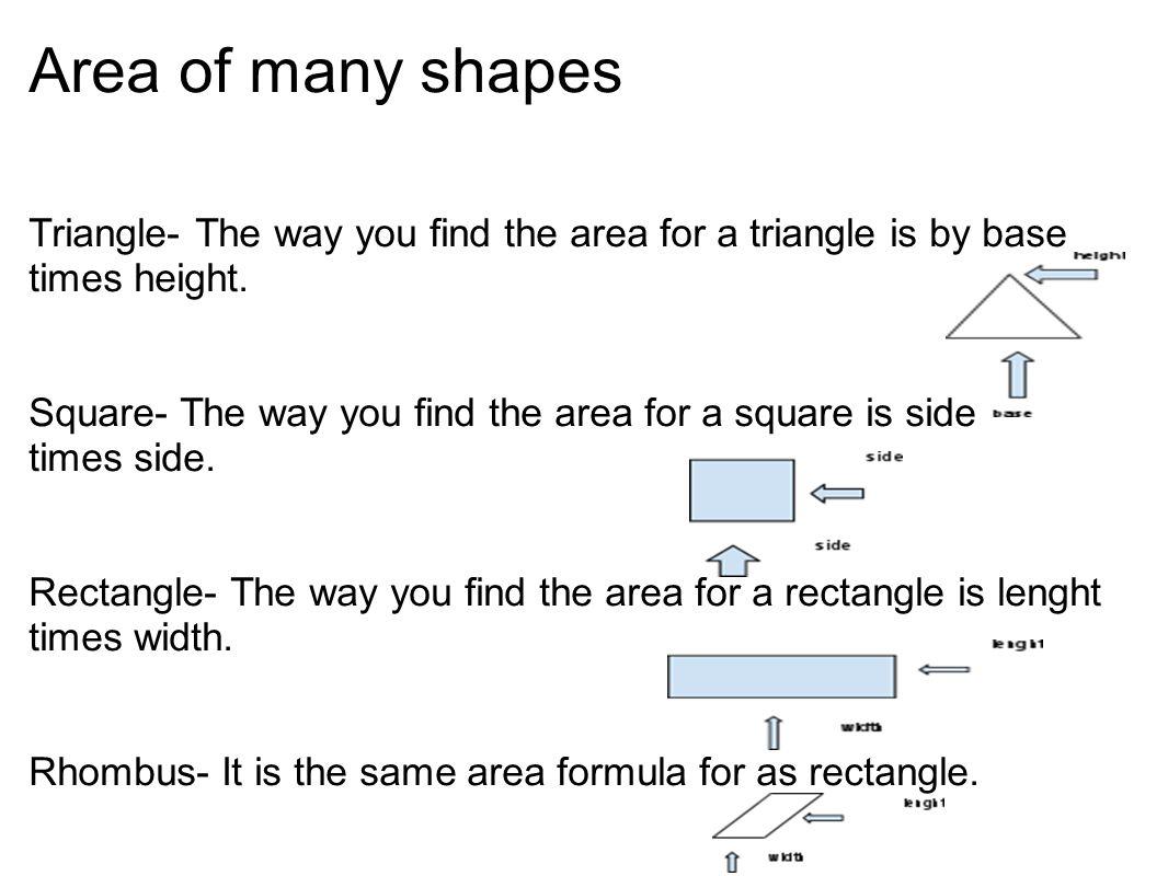 15 Area Of Many Shapes Triangle