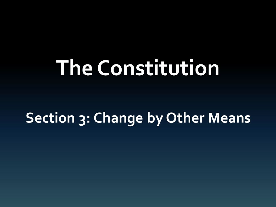 The Constitution Chapter 3 American Government Ms. Powers. - ppt ...