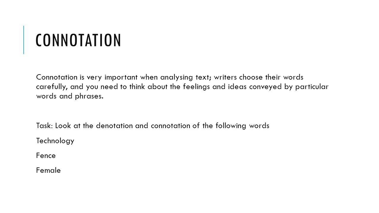3 CONNOTATION Connotation ...
