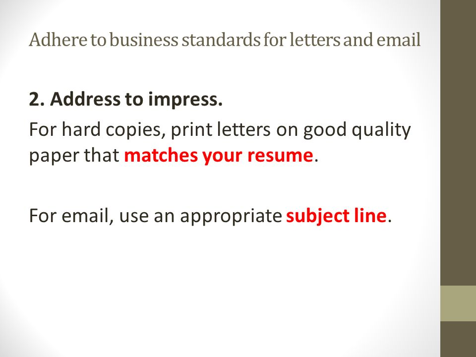 email cover letter subject line