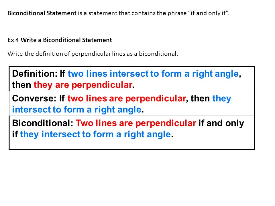 2-2 Analyze Conditional Statements Hubarth Geometry. - ppt download