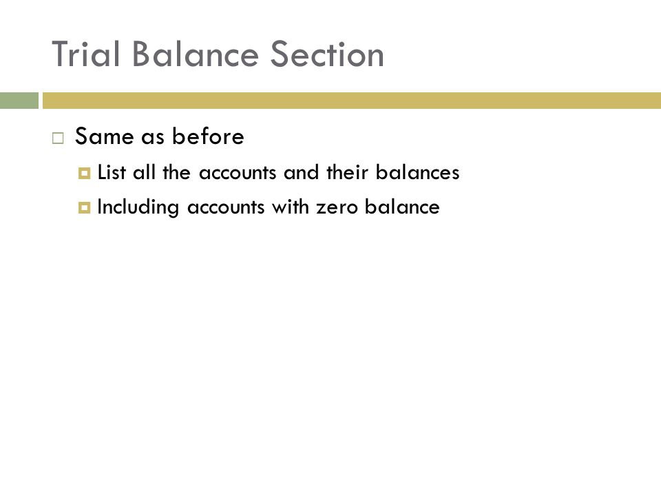 Adjustments And The Tencolumn Worksheet Chapter Ppt Download. 4 Trial Balance Section Same As Before List All The Accounts And Their Balances Including With Zero. Worksheet. Ten Column Worksheet In Accounting At Clickcart.co