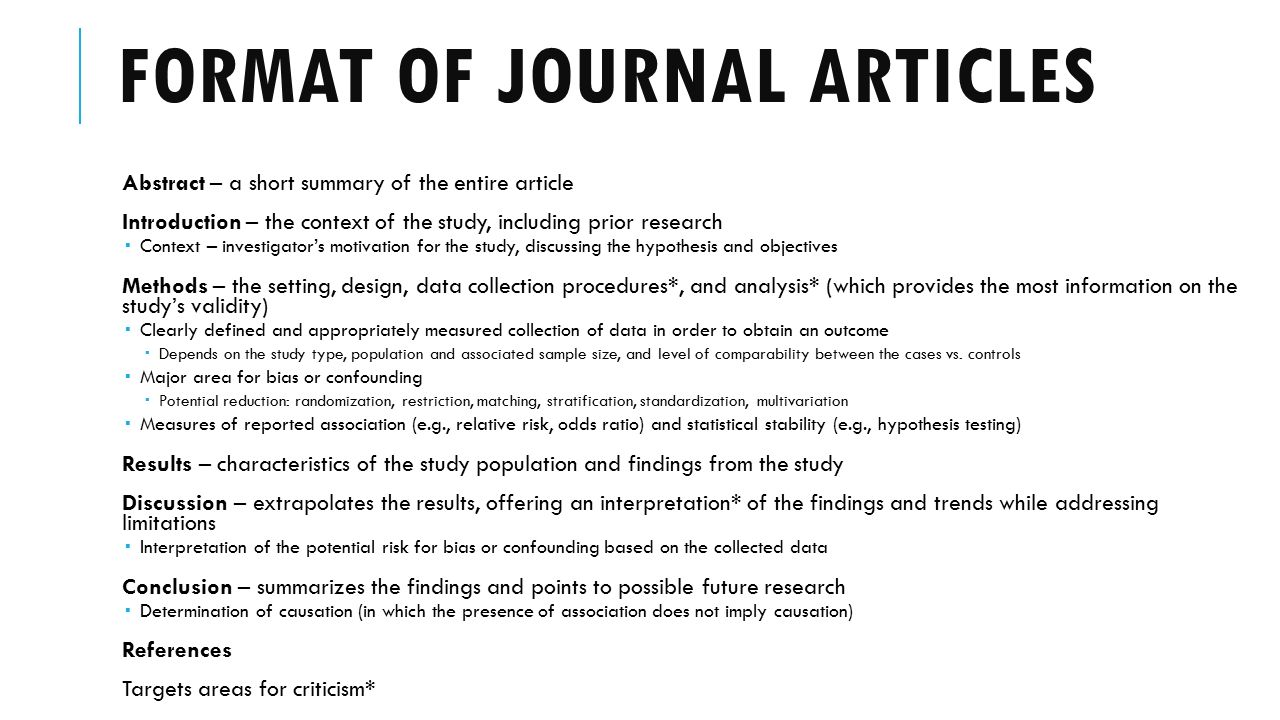 critical analysis of journal articles The analysis & assessment of foundation for critical thinking po box 196 we hope you will help us continue to advance fairminded critical societies across.