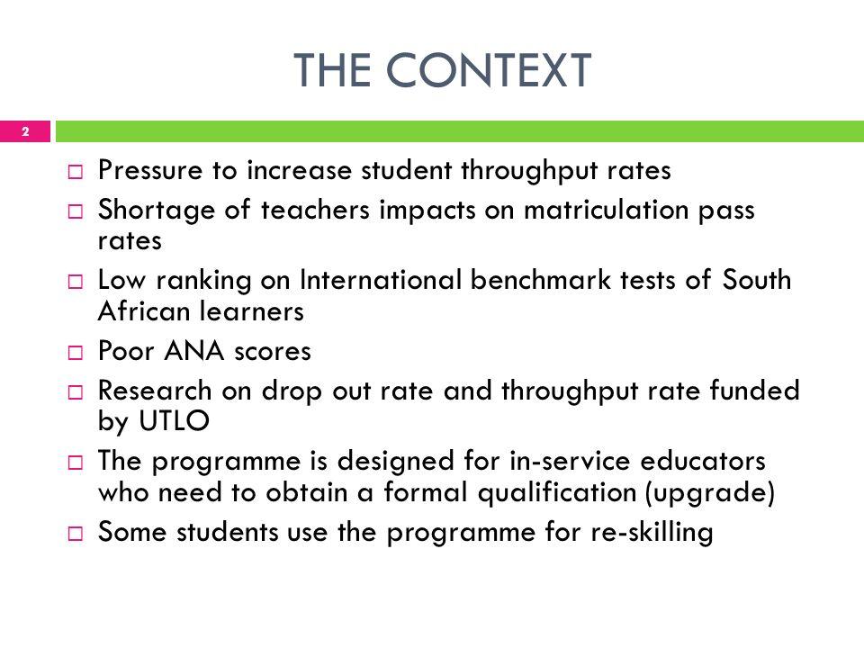 Factors Affecting Students Throughput Rates In An ACELanguage - International language ranking