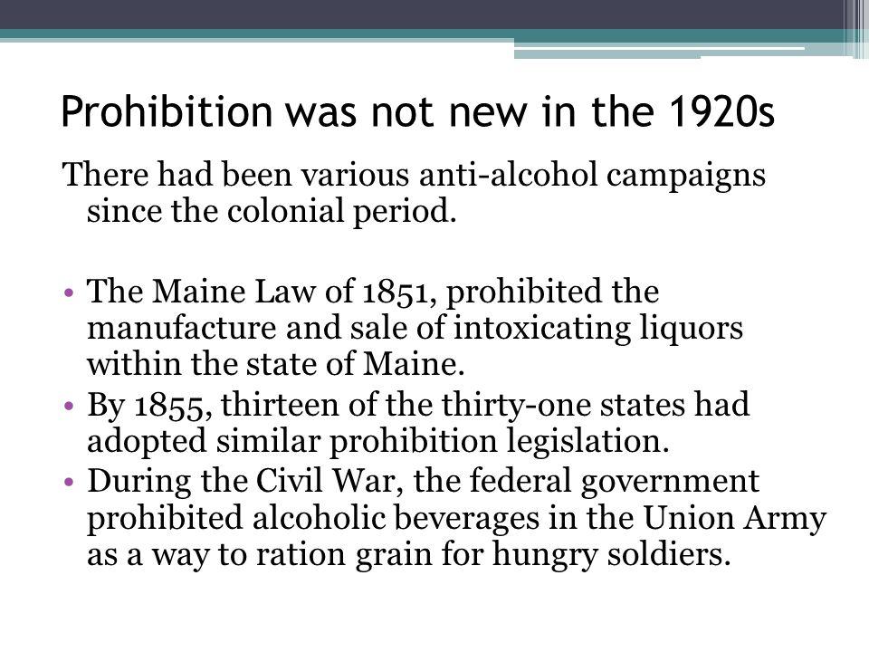 Prohibition Of Intoxicating Liquors