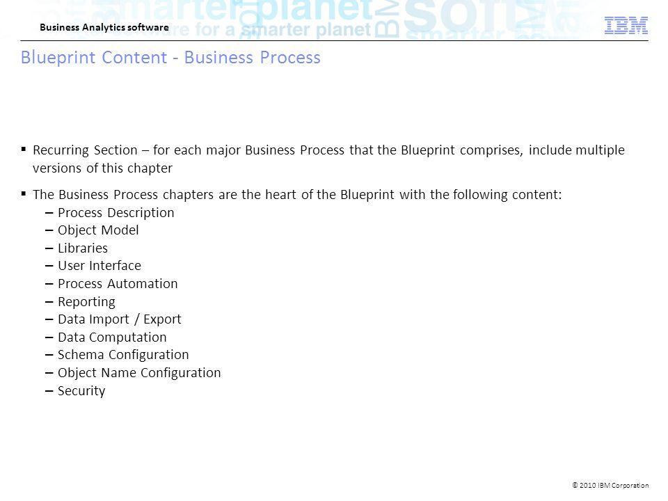 2010 ibm corporation business analytics software ibm openpages 8 2010 ibm corporation business analytics software blueprint content business malvernweather Choice Image