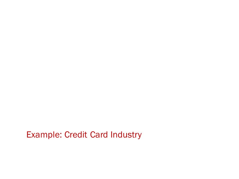 Example: Credit Card Industry