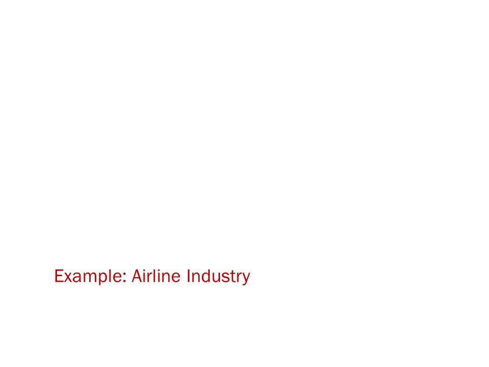 Example: Airline Industry