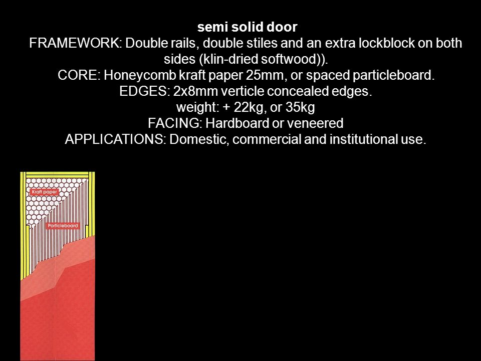 semi solid door FRAMEWORK Double rails double stiles and an extra lockblock on both  sc 1 st  SlidePlayer & Doors \u0026 Windows prepared by: ppt download