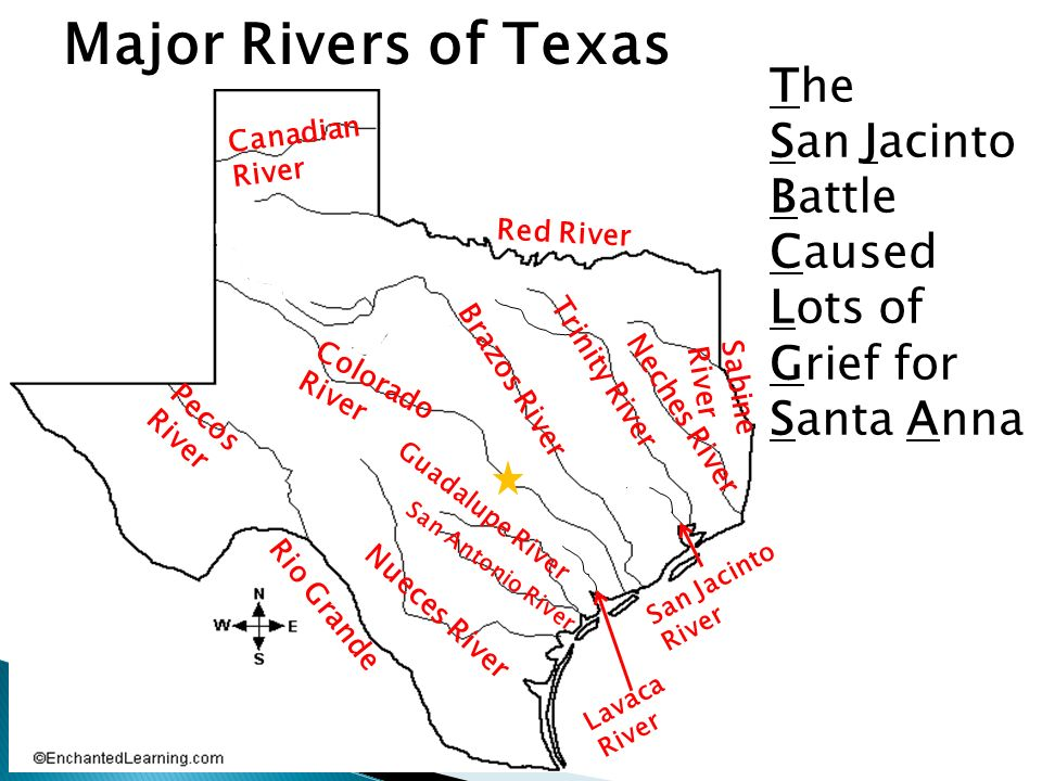 What Are Some Examples Of Physical Features In Texas Name Them - Physical map of texas rivers