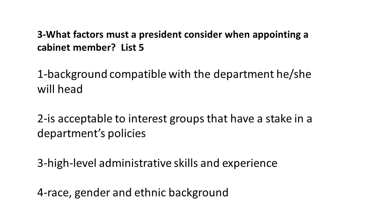 The President's Cabinet 1-There are _____cabinet-level departments ...